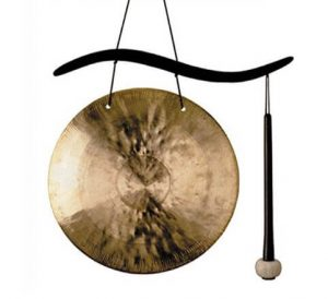 Cherry Finish Woodstock Table Top Gong